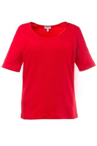 Gina Laura camisa regular costilla langer cinturilla rojo nuevo