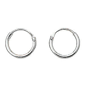 Sterling Silver Small 1 2mm X 10mm Endless Hoop Earrings Round 925 Jewelry