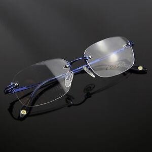 816e20c80e88 Monture de lunettes de vue Titanium percée invisible LPA609   eBay