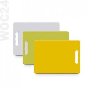 28-x-20-cm-Schneidebrett-Schneidbrett-Tranchierbrett-Kunststoff-Gelb-Gruen-Weiss
