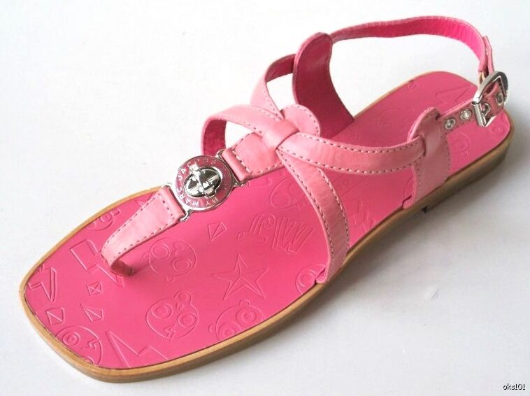 new shoes MARC JACOBS logo TURNLOCK pink leather FLATS shoes new - SUPER CUTE 1fb5b8