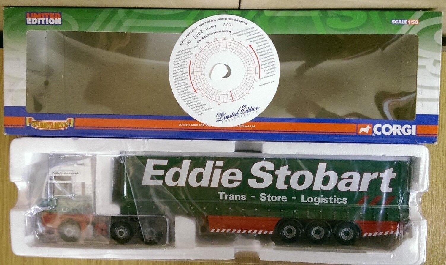 CORGI CC13415 MAN TGA XXL CURTAINSIDE Eddie Stobart LTD ED Nº 0002 del 3030