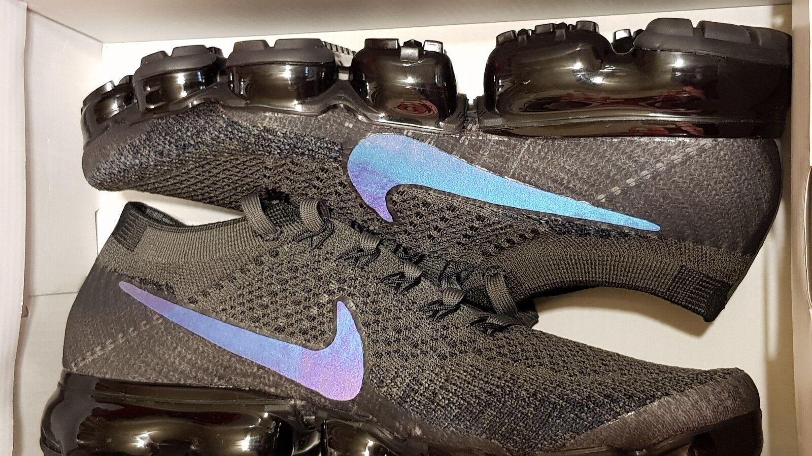 Nike Women's Air Vapormax Flyknit Midnight Fog Black 849557 009 Size 8