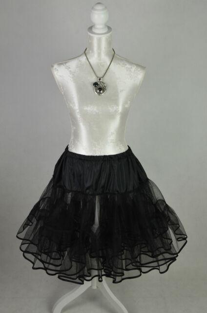 50er 60er Petticoat Unterrock Tüllrock Rockabilly Retro Vintage NEU schwarz
