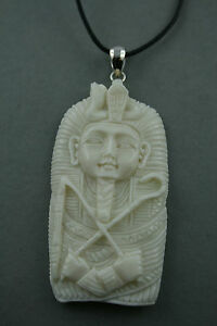 Bone Carving Pharao Büffel Knochen Sterling Silber Waren Des TäGlichen Bedarfs
