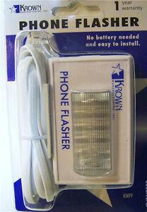 Telephone-Strobe-Light-Ringer-Phone-Flasher-Bright-LED-Home-Hearing-Impaired
