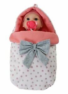 Chad Valley Babies to Love Baby Doll Sleep Set A Baby And A Removable Swaddle UK