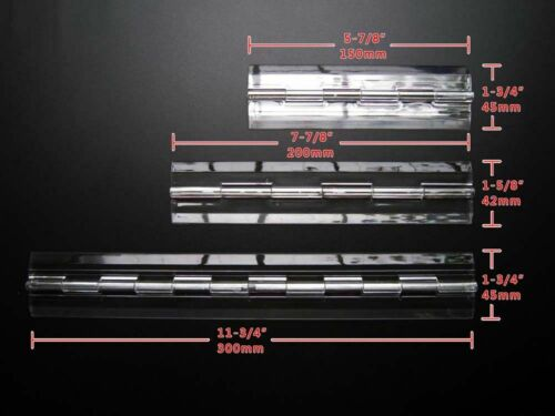 25mm-300mm Clear Acrylic Plastic Piano Continuous Hinges Hinge Transparent DIY