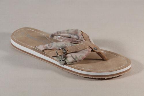 Damen Tamaris Zehenstegpantolette Sandale Pantolette düne// beige 27109 NEU!