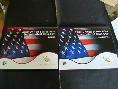 """w//o /""""W/"""" Cent 20 COINS 2019 P//D US Mint Annual Uncirculated Coin Set"""
