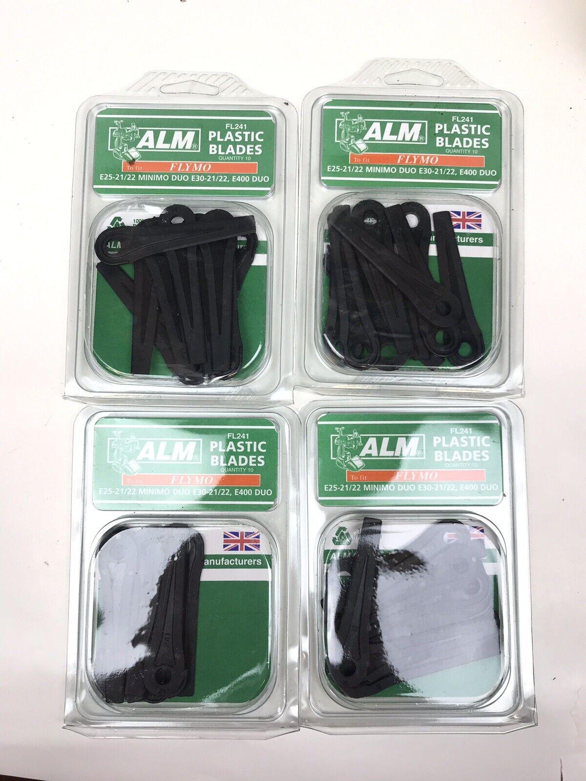 ALM FL241 6 x clip on plastic mower blades for lawnmowers like flymo
