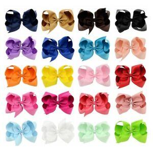 20PCs-Set-15cm-Baby-Girl-Toddler-Child-Kid-Jojo-Style-Bow-Clips-Hair-Accessory