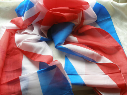 Red White Blue Union Jack Flag WORLD CUP Ladies Mens Scarf Pashmina Shawl A80