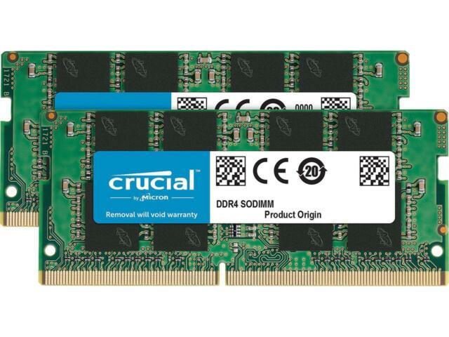 CL19 1.2V SR SODIMM 2 x 8GB Notebook Memory DDR4 2666MHz DRAM Crucial 16GB