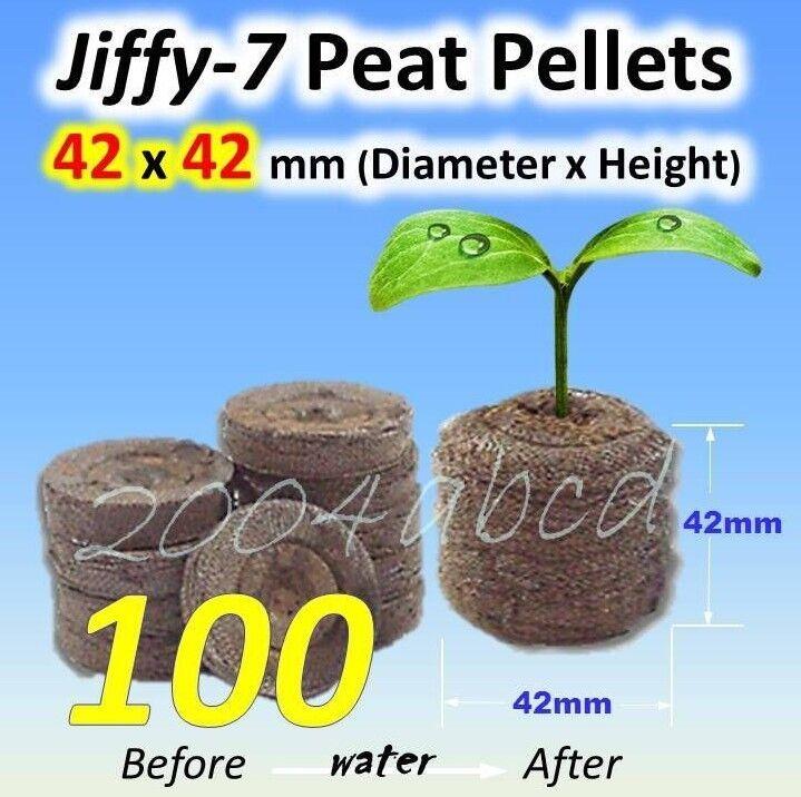 (100 X) 42 X 42 mm 7 semilla de bolitas de turba inicio Jiffy a partir hidropónica Plug