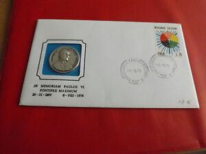 * NUMISBRIEF 1978 * avec argent médaille-PAPE SAINT PAUL VI. (alb12)-afficher le titre d`origine MRLsnEhH-07145802-988825347