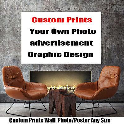 Custom Large Any Size Print Silk Silk Thin Silk Fabric Poster Own Photo  Design | eBay