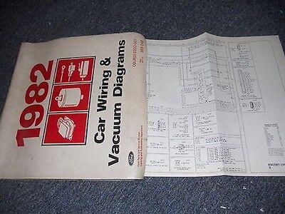 1982 FORD THUNDERBIRD MERCURY COUGAR XR7 WIRING DIAGRAM | eBay