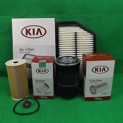 genuine kia sportage suv sl series 2.0l td filter pack (oil + air + fuel  filter) | ebay  ebay