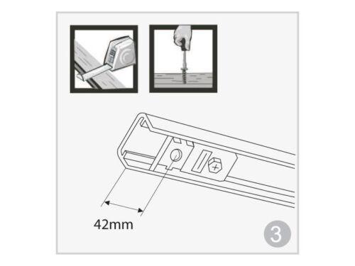 4 portes 1213mm long Apollo porte pliante système d/'engrenages pour portes de pliage