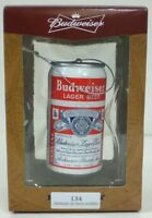 Vintage Bud Budweiser Can Christmas Ornament Made By Kurt S. Adler