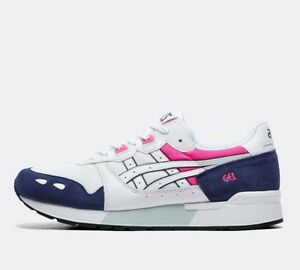 Details about Mens Asics Gel Lyte WhiteNavyPink Trainers RRP £89.99