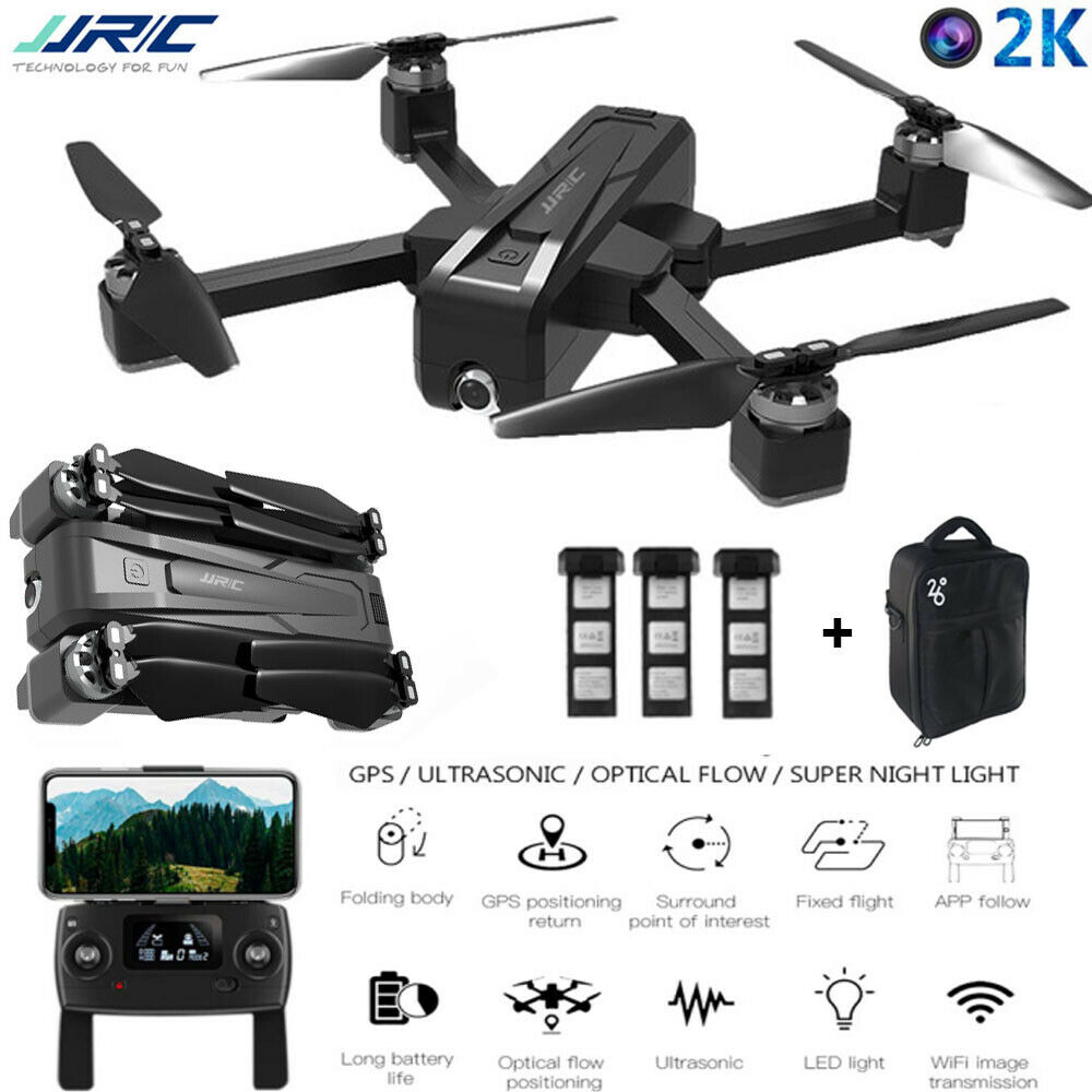JJR//C X11 5G WIFI FPV 2K GPS Brushless RC Drone With Single-axis Gimbal and Bag