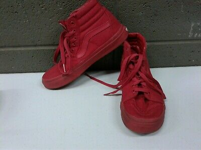 Solid Red Vans Off the Wall Boys Size 3