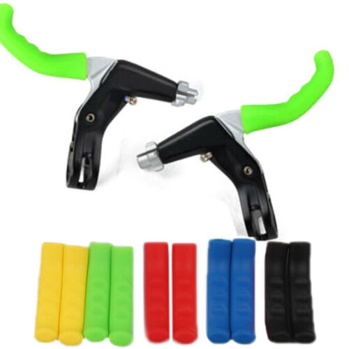 1Pair Brake Handle Silicone Sleeve Mountain Bike Brake Lever Protection Cover/_US