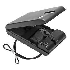 Button Keycode Combination Lock Gun Safe Box Small Steel Cable Portable HardCase