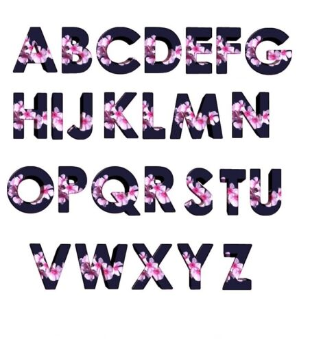 30 Return Address Labels Alphabet Monogram Flowers Buy 3 get 1 free fl2