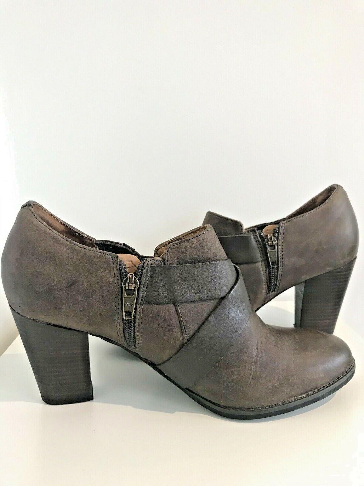 Clarks Women's Brown Leather Buckle Heel shoes Boot UK 7 7 7 D fd8871