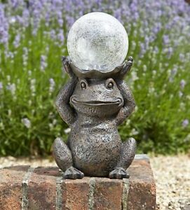 Superbe Image Is Loading Solar Powered Gazing Frog Decorative Garden Ornament Light