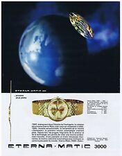 PUBLICITE ADVERTISING 104 1963 ETERNA-MATIC 3000 montre