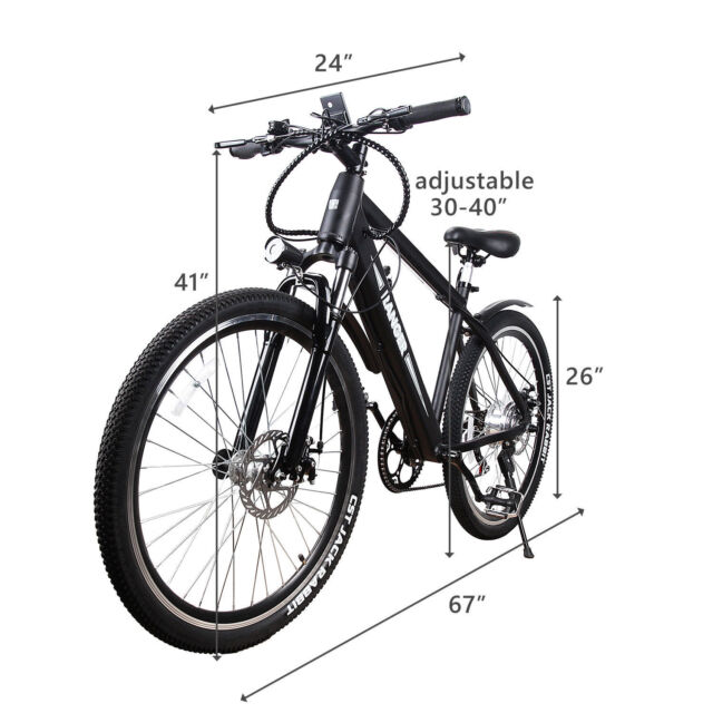 26 300w Fat Tire Electric Bicycle Mountain Ebike With 36v10a