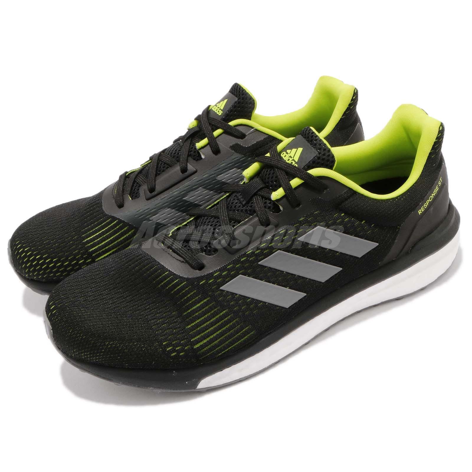 adidas Response ST M Stability Noir Hire vert CG4004 Hommes Running Chaussure Baskets CG4004 vert 88695c
