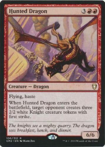 II 6x Hunted Dragon Near Mint MTG Commander Anthology Vol
