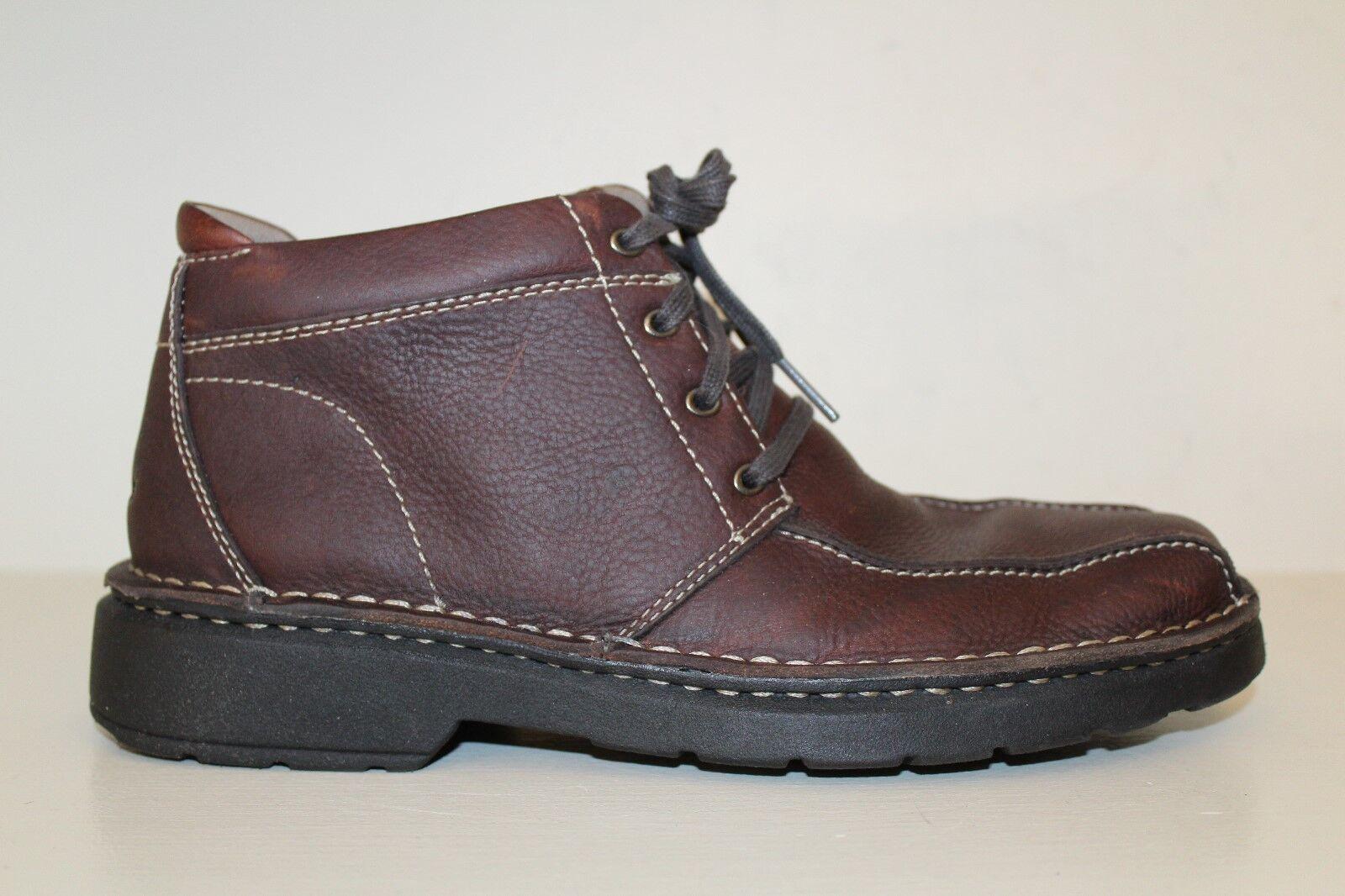 CLARKS Mens Ankle Boots Sz 7.5 M Gerrard 72183 Brown Leather Lace Up shoes