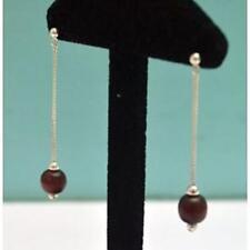 Boucles d'oreilles en argent 925/1000 pendante et Bois ethnique -  wo54