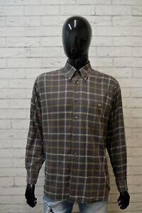 Camicia-Uomo-LACOSTE-Taglia-42-XL-Camicetta-Manica-Lunga-Maglia-Shirt-Quadri