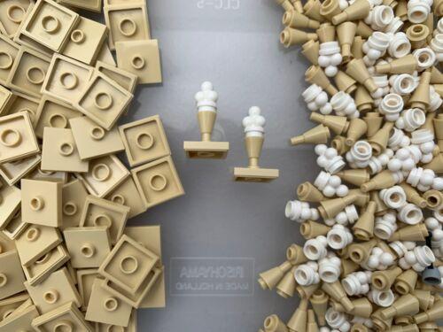 Baukästen & Konstruktion Lego 87580 11610 6254-2 New Eiscreme Schaufeln & Kegel mit 2x2 Platte Ständer