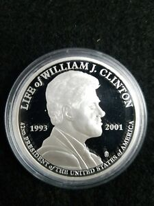 AMERICAN-MINT-Life-of-President-William-J-Clinton-medal