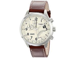 Timex-Men-039-s-Intelligent-Quartz-Fly-Back-Chronograph-Leather-Watch-T2N932