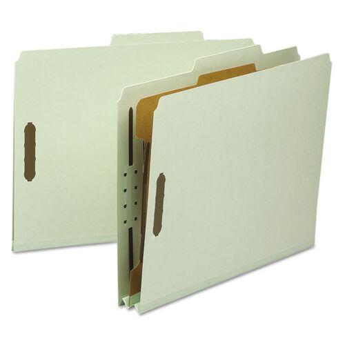 "/""Smead Classification Folder 1 Divider 2/""/"" Exp 2//5 Cut Letter Gray//green 10//bx/"""