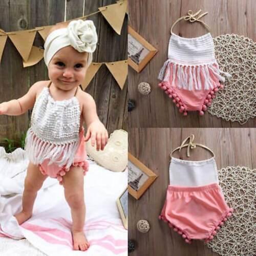 Neugeborene Säuglingsbaby-Spielanzug-Bodysuit-Overall-Ausstattungs-Sunsuit