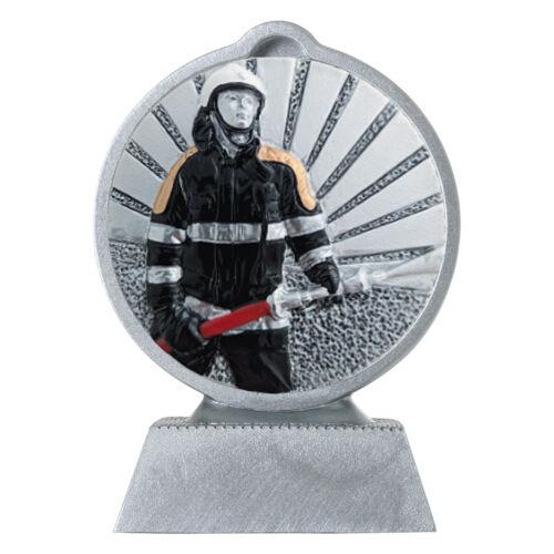 Pokal Feuerwehr mit 3D Motiv Serie Ronny 10,5 cm hoch