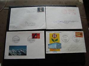 Switzerland-4-Envelopes-1969-1970-1980-1980-cy27-Switzerland