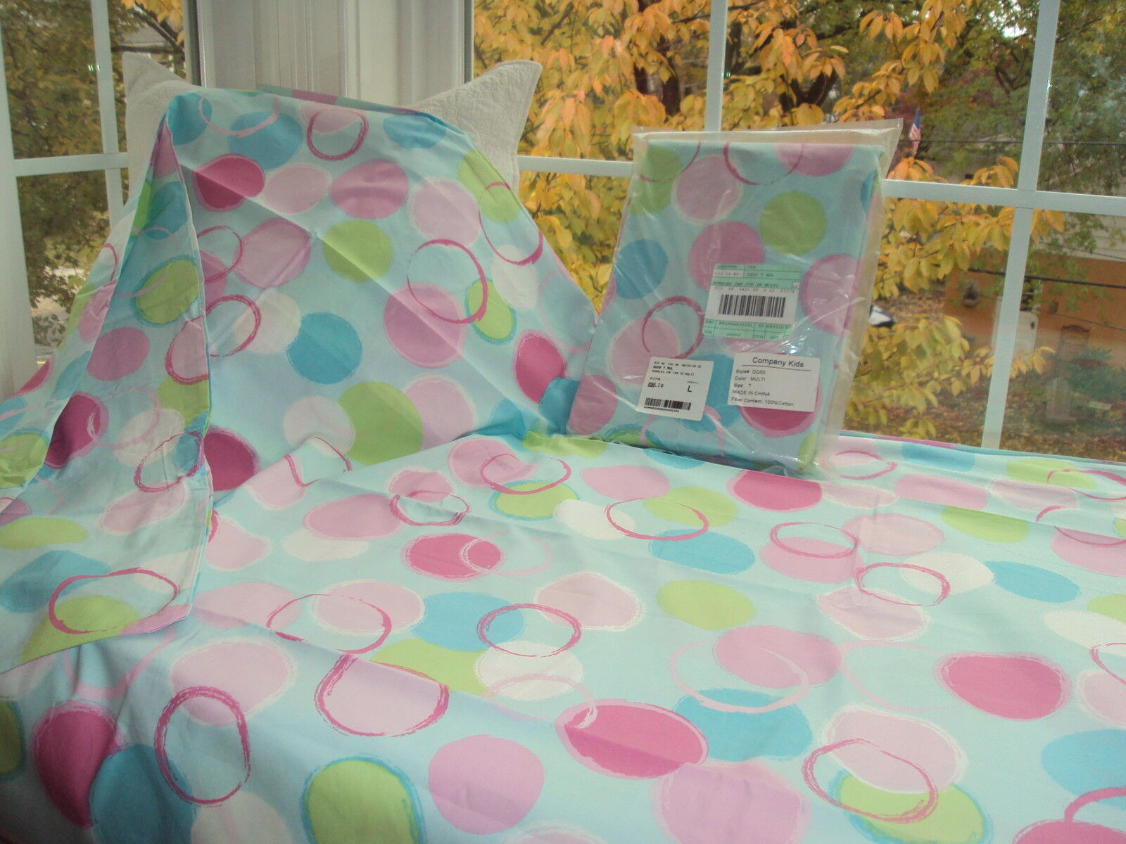 THE COMPANY STORE KIDS Tw BUBBLES Duvet Cover POLKA DOT CIRCLES NWT 2 available