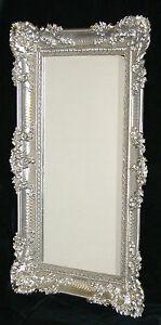 Specchio da parete Barocco Grande SPECCHIO ARGENTO LUCIDO 97x57 ...