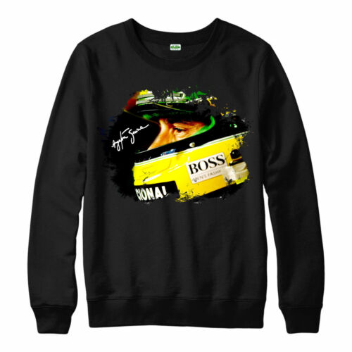 Ayrton Senna Tribute F1 Racing Adults /& Kids Jumper Top Ayrton Senna Jumper